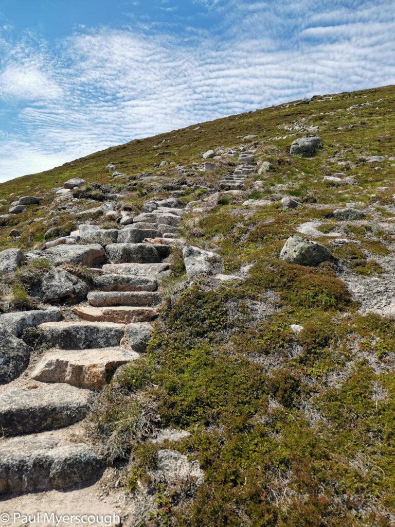 Steps on Carn a' Mhaim